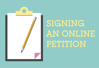 Signing an Online Petition